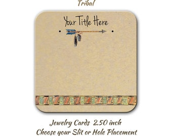 Custom Earring Cards, Tribal Jewelry Cards, Necklace Cards, Custom Display Cards, Personalized Cards