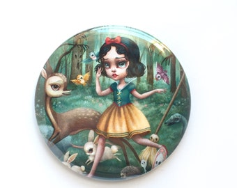 Pretty Pocket Mirror - Snow White in the Black Forest - pocket mirror by Mab Graves