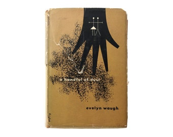 """Alvin Lustig book jacket design, 1945. """"A Handful of Dust"""" by Evelyn Waugh [New Directions, New Classics] NC8"""