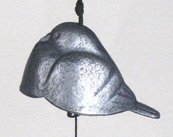 Vintage Japanese  Silver Dove/Pigeon Bird  Bell/Windchime