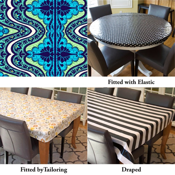 laminated cotton aka oilcloth tablecloth custom size and fit. Black Bedroom Furniture Sets. Home Design Ideas