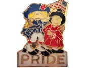 PRIDE AMERiCA vintage pin badge United States USA Stars and Stripes