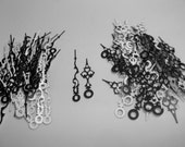 25 Pairs New Serpentine Fancy Black/White Clock Hands (No9) For Scrapbooking, Steampunk, Embellishment