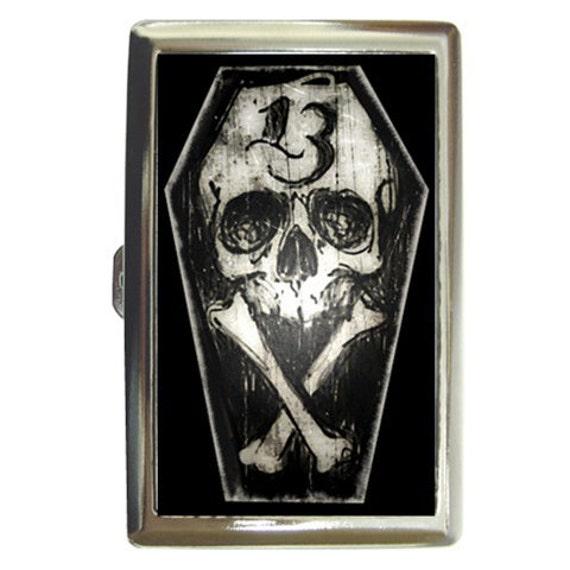 Luck 13 Skull and Crossbones Money/card/cigarette case