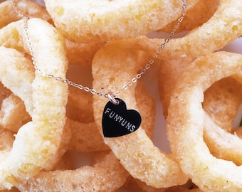 Funyuns Heart Charm Necklace