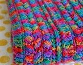 Vintage Rainbow Afghan Throw