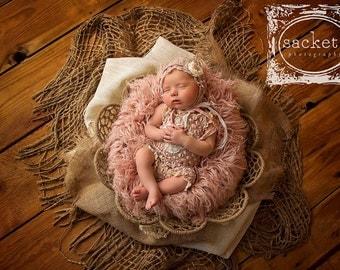 Chunky Burlap Layer Newborn Photo Prop Jute Layer  Burlap Blanket Photography Prop Twine blanket open weave burlap