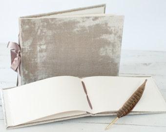 "Lush Velvet Album - ""The Artisan"" - the perfect photo guest book"