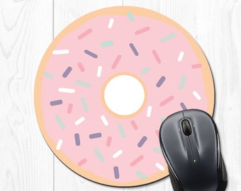 mouse pad Mousepad Doughnut Coworker Gift Mousepads Coworker Funny Pink Office Desk Accessories School Supplies Best Friend Gift