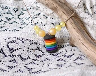 Rainbow Pride Cookie Charm Necklace