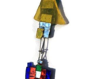 Atomic Sparkle Window Sun Catcher, Mirror Tarty Window Sparkle, Sparkly Garden Art - free shipping
