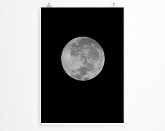 Full Moon Print , Moon Poster , Large Moon Print,  La Luna Print, Large Wall Art, Oversized Art, Moon Photography, Full Moon, Trending Items