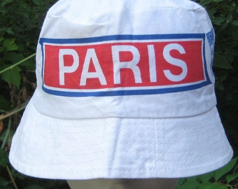 I went On Vacation Vintage 1970s Bucket Hat Paris France