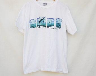 Vintage 90s San Diego T-shirt/ Beach/ Surf/ Nautical
