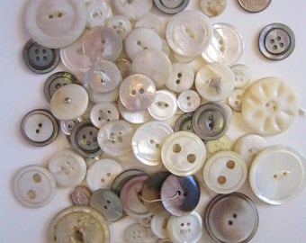 78 vintage shell and MOP buttons