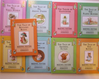 9 vintage BEATRIX POTTER books - circa 1992, color reproductions, F. Warne and Co