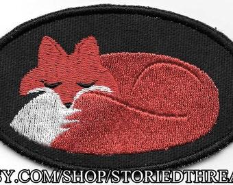 Kawaii Sleeping Fox Patch