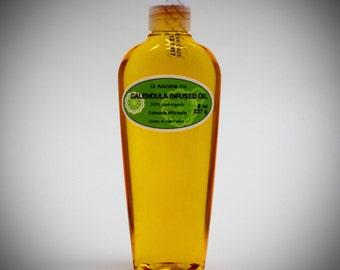 8 oz Organic Calendula Infused Oil Natural