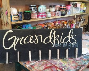 Grandparent Brag Board Grandkids Make Life Gran Sign