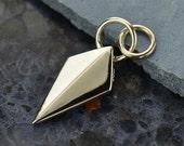 Shield Spike Charm - C1553, Earring Findings, Necklace Findings