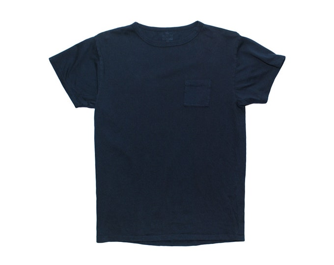 QMC California Pocket Tee - Navy Blue - 100% Cotton Jersey T-Shirt