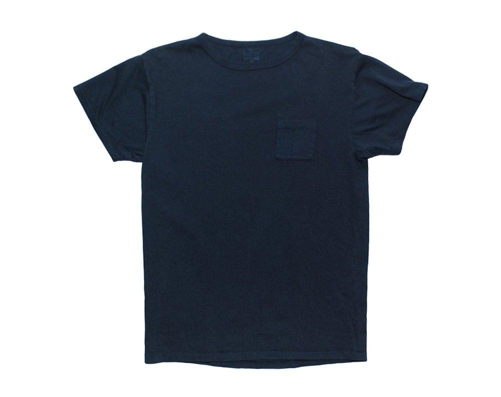 QMC California Pocket Tee - Navy Blue - 100% Cotton Jersey T-Shirt