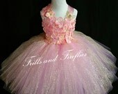 Pink & Gold Flower Girl Dress- Flowergirl Dress, Gold and Pink Fairy Dress..OTHER COLORS AVAILABLE Size 1t, 2t, 3t, 4t, 5t, 6, 7, 8, 10