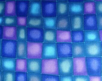 Lavender Geometric Squares Quilting Fabric