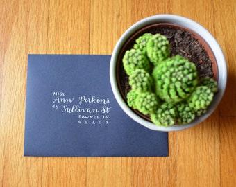 Modern Calligraphy Wedding Envelope Addressing