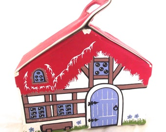 1967 Snow White Hasbro Vinyl House, Vintage Hassenfeld Bros. Toy (L4)