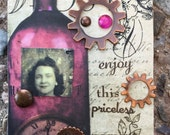 Moments In Time A Conceptual AcEo  By Alteredhead Artist Trading Cards ACEO  Alteredhead  Artwork  Original Handmade Design On Etsy Artwork