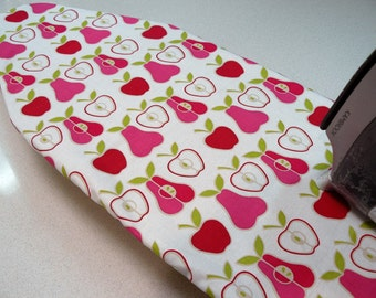Ironing Board Cover TABLE TOP - pink pears and apples