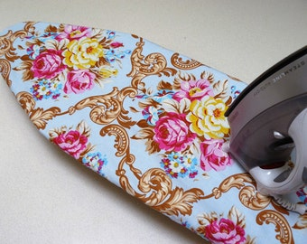 Ironing Board Cover TABLE TOP -JP Circa blue and pink flowers