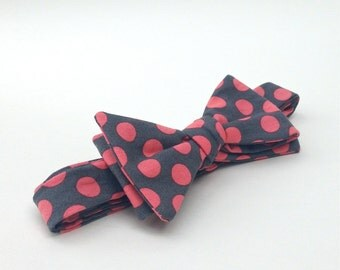 Polka Dot Bow Ties, Men's Bow Ties, Bowties for men, Bow ties for Men, Self Tie Bow Ties, Coral Ties, Groomsmen Ties, Cotton Ties