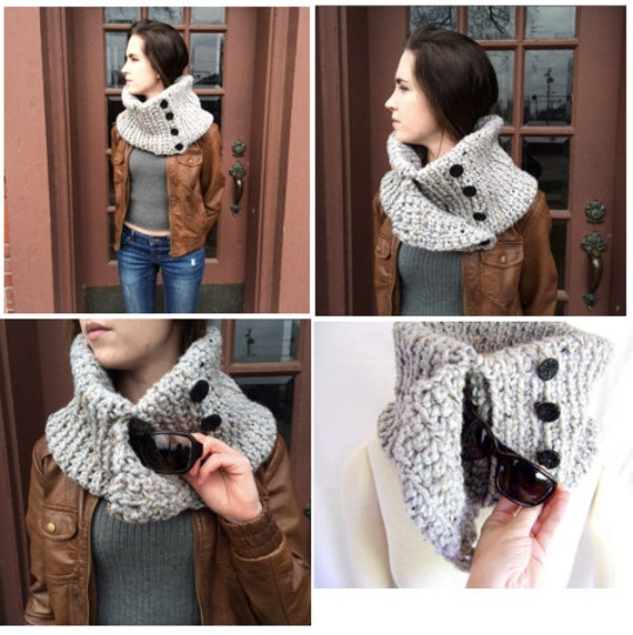 Crocheted Pocket Cowl Pattern - Great For Yourself or As A Gift - INSTANT DOWNLOAD