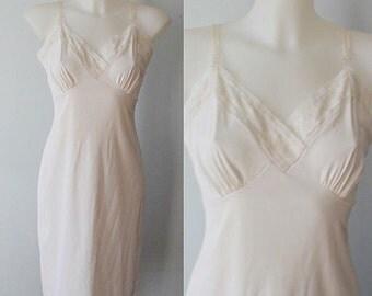 Vintage Slip, 1950s Slips, Munsingwear, Ivory Full Slip, Full Slip, Wedding, Lingerie, Ivory Slip, 1950s Munsingwear