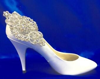 Bridal Shoe Clips, Crystal Shoe  Clips, Rhinestone Shoe Clips,  Bridal Party Shoes, Wedding Shoe Clips