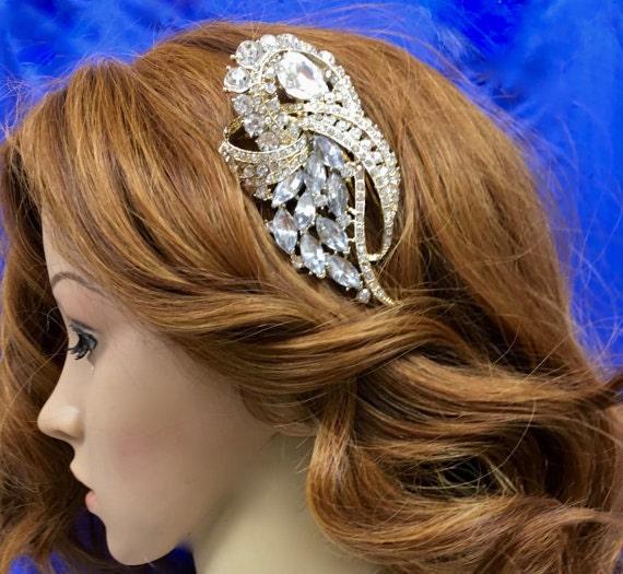 Rhinestone Pearl Comb,  Crystal  Bridal Headpiece,  Wedding Gown Accessory, Bridal Wedding Comb
