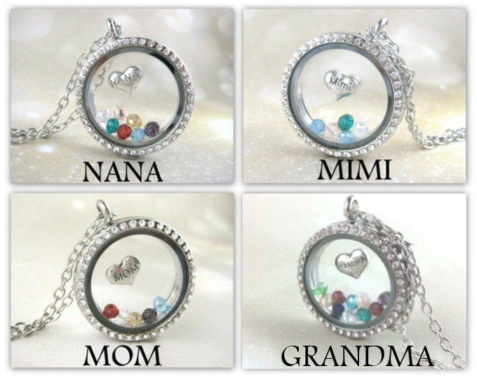 Featured listing image: Personalized Grandma Necklace - Mother Jewelry - Birthstone Necklace - Great Grandma Gift - Grandmother Jewelry - Custom Grandma Gift Locket