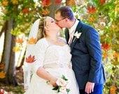Bridal Bolero, Wedding Cover Up, Stretch Lace BRIDAL SHRUG Bolero, 3/4 Sleeves, Lined