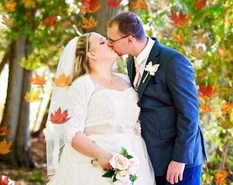 Bridal Bolero, Wedding Cover Up, Stretch Lace, Bolero, 3/4 Sleeves, Lined