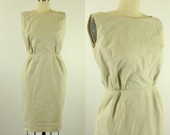 1950's Off White Wiggle Dress S M Stephan Ltd.