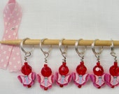Breast Cancer support stitch marker butterfly