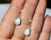 Moonglow - Rainbow Moonstone Sterling Silver Earrings
