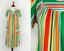 Striped Terrycloth House Dress