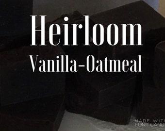 HANDMADE SOAP,  Vanilla-Oatmeal shea butter soap, VEGAN