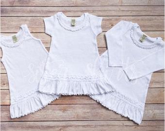 Girly Short Sleeve Ruffle Dress | Choose Your Design!