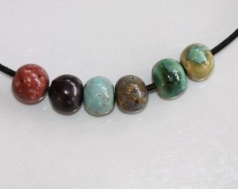 Ceramic Beads clay beads handmade Beads porcelain stoneware textured beads art beads  earthy tribal beads artisan bead supplies potterygirl