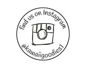 Rubber Stamp - Custom FIND US or FiND ME social media stamp with camera - style 4