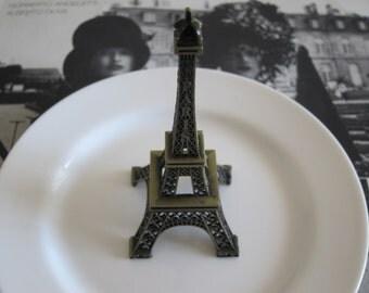 Eiffel Tower Ring Dish Eiffel Tower Trinket Dish French Shabby Chic Decor Jewelry Dish Vanity Accessory Boudoir French Kitchen Decor Paris